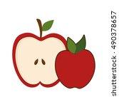 red apple fruit | Shutterstock .eps vector #490378657
