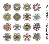Set Of Ornate Vector Mandala...
