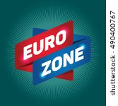 euro zone arrow tag sign. | Shutterstock .eps vector #490400767