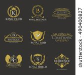 luxury logo collection design... | Shutterstock .eps vector #490400827