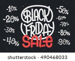 black friday lettering with... | Shutterstock .eps vector #490468033