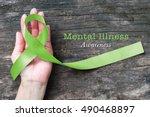 mental illness awareness with... | Shutterstock . vector #490468897