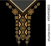vector design for collar shirts ... | Shutterstock .eps vector #490490803