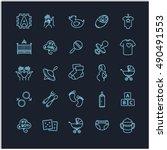 baby icons  vector set   Shutterstock .eps vector #490491553