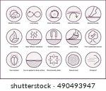 wood properties icons. vector... | Shutterstock .eps vector #490493947