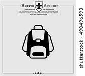 web icon. knapsack   Shutterstock .eps vector #490496593