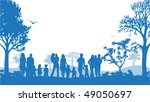 illustration of families and... | Shutterstock .eps vector #49050697