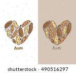 biscotti cookie vector... | Shutterstock .eps vector #490516297