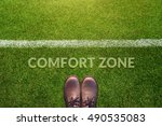 comfort zone concept  male with ...   Shutterstock . vector #490535083