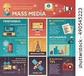 mass media   info poster ... | Shutterstock .eps vector #490545223