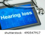 tablet with the diagnosis... | Shutterstock . vector #490547917