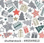 vector seamless pattern with... | Shutterstock .eps vector #490549813