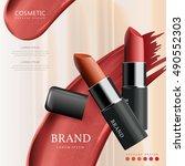 attractive lipstick package... | Shutterstock .eps vector #490552303