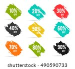 christmas sale percents  new... | Shutterstock . vector #490590733