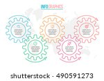 business infographics. timeline ... | Shutterstock .eps vector #490591273