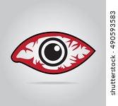 eye redness icon  inflammatory...   Shutterstock .eps vector #490593583