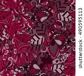 tracery seamless calming...   Shutterstock .eps vector #490595113