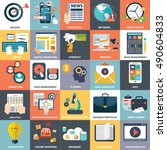 vector collection of flat and... | Shutterstock .eps vector #490604833