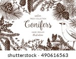vintage design for greeting... | Shutterstock .eps vector #490616563