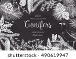 vector christmas design with... | Shutterstock .eps vector #490619947