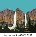Beautiful Waterfall Scene...