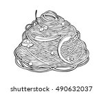 chinese noodles  asian food... | Shutterstock .eps vector #490632037