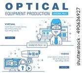modern medical optic... | Shutterstock .eps vector #490636927