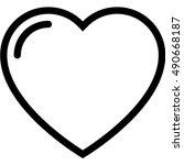 heart icon | Shutterstock .eps vector #490668187
