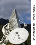 Small photo of dish aerials in styria. area named erdefunkstelle aflenz,austria