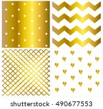 pattern vector gold and white... | Shutterstock .eps vector #490677553