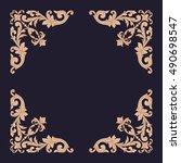 gold vintage baroque element...   Shutterstock .eps vector #490698547