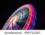 ferris wheel spinning long... | Shutterstock . vector #490712287