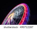 ferris wheel spinning long... | Shutterstock . vector #490712287