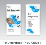 green modern creative abstract... | Shutterstock .eps vector #490720357