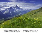 famous hiking trail from first... | Shutterstock . vector #490724827