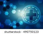 2d illustration medical... | Shutterstock . vector #490750123