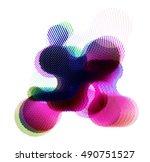 abstract vector background dot...   Shutterstock .eps vector #490751527