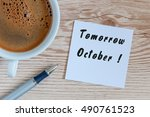 Tomorrow October   Written On...