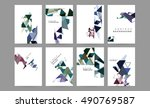 6 abstract geometric vector... | Shutterstock .eps vector #490769587
