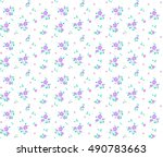 cute seamless pattern in small... | Shutterstock .eps vector #490783663