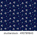 cute floral pattern in the... | Shutterstock .eps vector #490789843