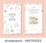 wedding set. romantic vector... | Shutterstock .eps vector #490793353