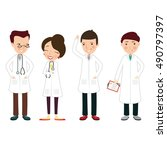 set of medics vector... | Shutterstock .eps vector #490797397