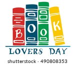 book lovers day vector... | Shutterstock .eps vector #490808353