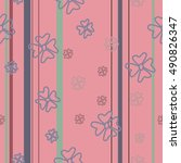 pink pattern flowers   Shutterstock .eps vector #490826347