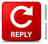 reply  rotate arrow icon  red... | Shutterstock . vector #490848493