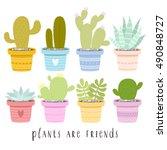 big set of illustrations of... | Shutterstock .eps vector #490848727