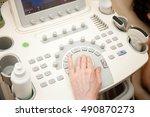 doctor performing an ultrasound ... | Shutterstock . vector #490870273