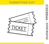 Tickets Linear Icon. Thin Line...