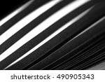 curled in a roll black paper... | Shutterstock . vector #490905343